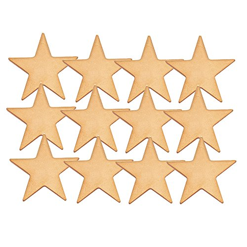 1 Inch Flat Gold Star Lapel Pin - Package of 12, Poly ()
