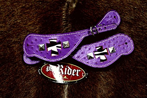 Horse Western Riding Cowboy Boots Leather Spur Straps Tack - 7483