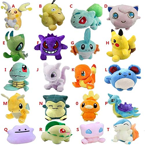 PampasSK Stuffed & Plush Animals - Styles Plush Toy 12-18cm Peluche Pikachu Snorlax Charmander Mewtwo Dragonite Cute Soft Stuffed Dolls for Kids 1 PCs -