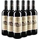 【法国大牌,买二件赠送酒杯礼盒】法国原瓶进口 歌莉雅干红葡萄酒750ML (750ml*6支整箱)