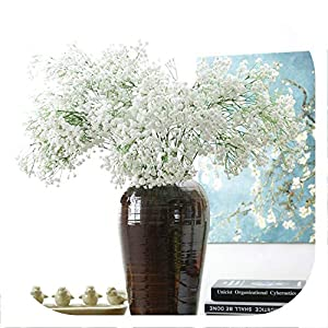Memoirs- 30Pcs Real Touch Gypsophila Flower Baby Breath Flower Bouquet Artificial Flowers for Party Wedding Decoration 73