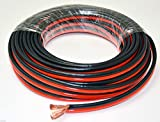 Voodoo 25 FT 8 AWG True spec Gauge Zip Wire red Black Stranded Power Ground