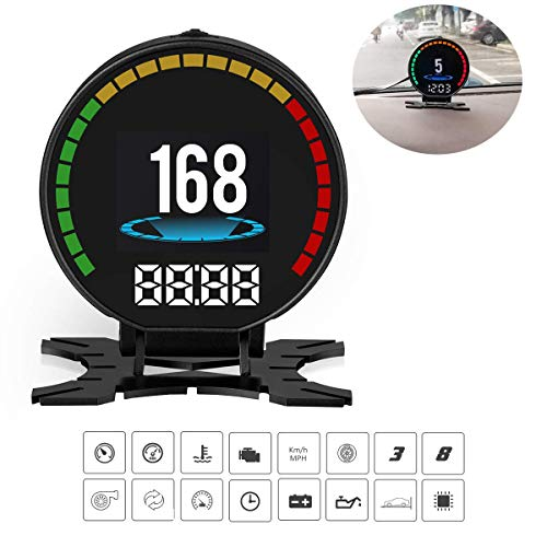Universal Hud Heads Up Display Car,Car HUD GPS Speedometer Overspeed Alarm Windshield Project,Can Read 48 Kinds Of Data In ECU - Car C60