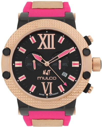 Mulco-Nuit-Black-Dial-Fuchsia-Rubber-Strap-Ladies-Watch-MW311010085