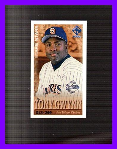 - 2000 Private Stock PS-2000 Stars #14 Tony Gwynn RIP HOF SAN DIEGO PADRES SERIAL #13/299
