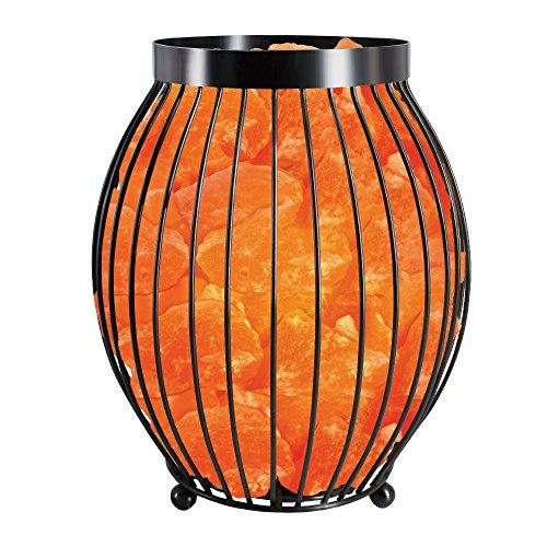Himalayan Glow 1345 Ovel Style Pink Salt Basket Lamps , (9 lbs) .ETL Certified Pure Himalayan Salt Basket Night Lamp with Salt - Shape Ovel