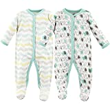 Kyпить Luvable Friends Baby Cotton Snap Sleep and Play, Elephants 2 Pack, 0-3 Months на Amazon.com