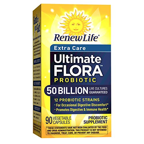 Renew Life Adult Probiotic - Ultimate Flora Probiotic Extra Care, Shelf Stable Supplement - 50 billion - 90 Vegetable Capsules (Packaging May Vary) by Renew Life (Image #9)