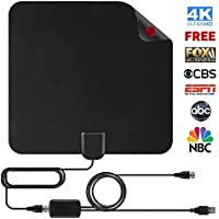 Shnvir TV Antenna, 50 Mile Digital TV Antenna Flat HD Antenna Digital Antenna HDTV Antenna Indoor Antenna Indoor TV Antenna for Digital TV Indoor with 13FT Coaxial Cable- Cool Black
