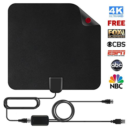 1 Digital Indoor Hdtv Antenna (Shnvir TV Antenna, 50 Mile Digital TV Antenna Flat HD Antenna Digital Antenna HDTV Antenna Indoor Antenna Indoor TV Antenna for Digital TV Indoor with 13FT Coaxial Cable- Cool Black)
