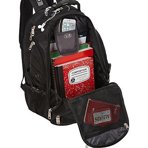Amazon.com: SwissGear 1900 Scansmart TSA Laptop Backpack - Black ...