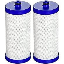 EcoAqua EFF- WF1CB Replacement for Electrolux, Sears, Frigidaire WF1CB, WFCB, RG100, NGRG2000, Kenmore 9910 Refrigerator Water Filter, 2 Pack