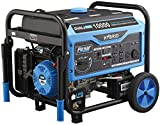 Pulsar PG10000B16 10,000W Dual Fuel Switch & Go Technology & Electric Start Portable Generator, Black