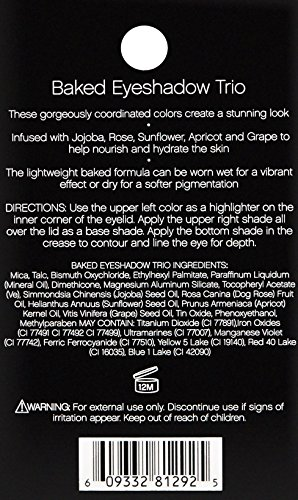e.l.f. Baked Eyeshadow Trio Brown Bonanza, 0.14 Ounce