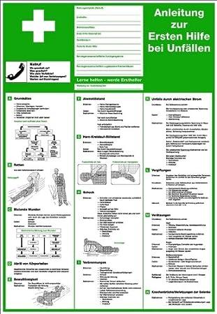PVC con instrucciones para primeros auxilios en caso de ...
