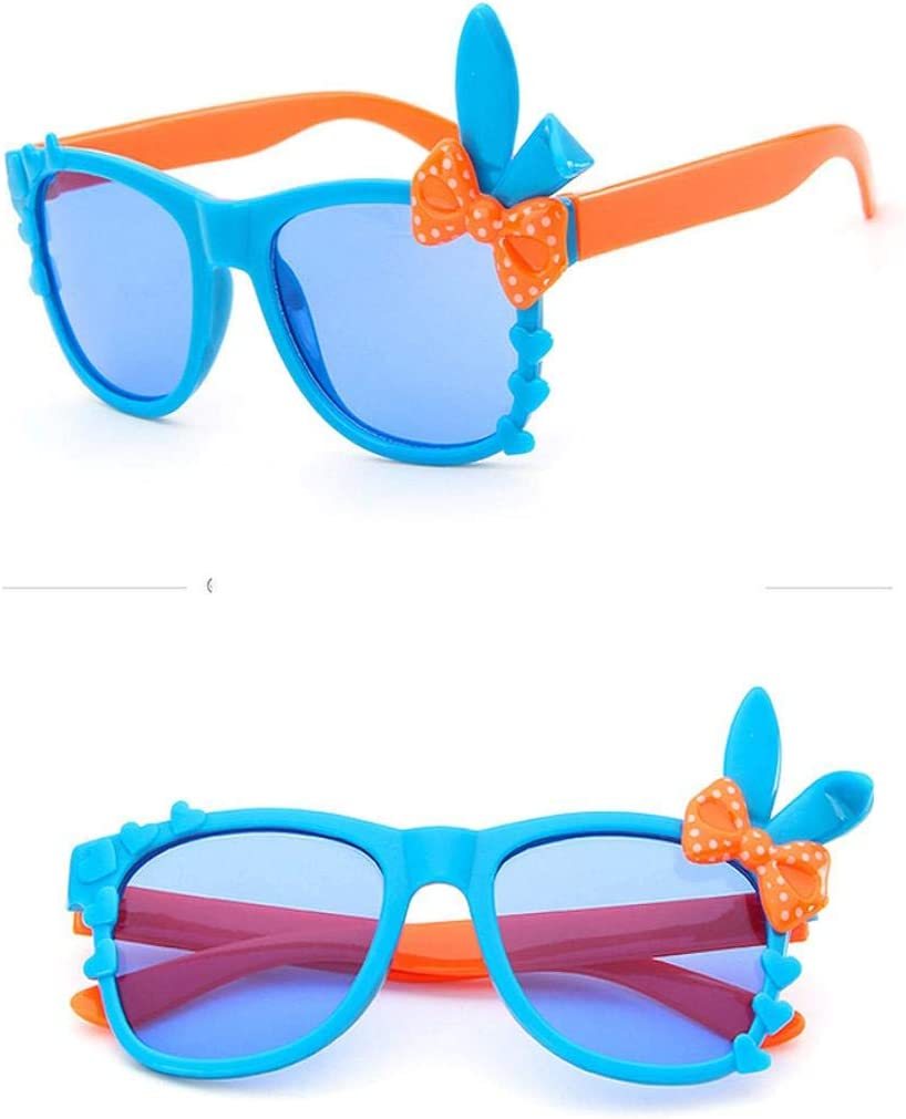 Nicolarisin Childrens Polarized Cartoon Sunglasses Toddler Baby Kids Boys Girls Tpee Anti-Uv Cartoon Stretchy Polarized Sunglasses Rectangular Sunglasses for Girls
