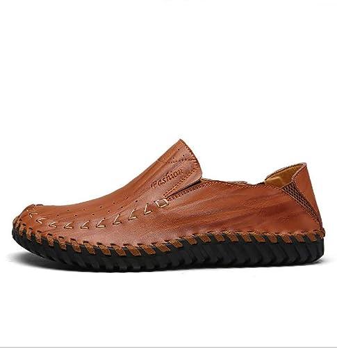 Zapatos Casual para Hombre Cuero Primavera/Otoño Comfort Mocasines y Slip-Ons Zapatos para Caminar Negro Marrón Amarillo: Amazon.es: Zapatos y complementos