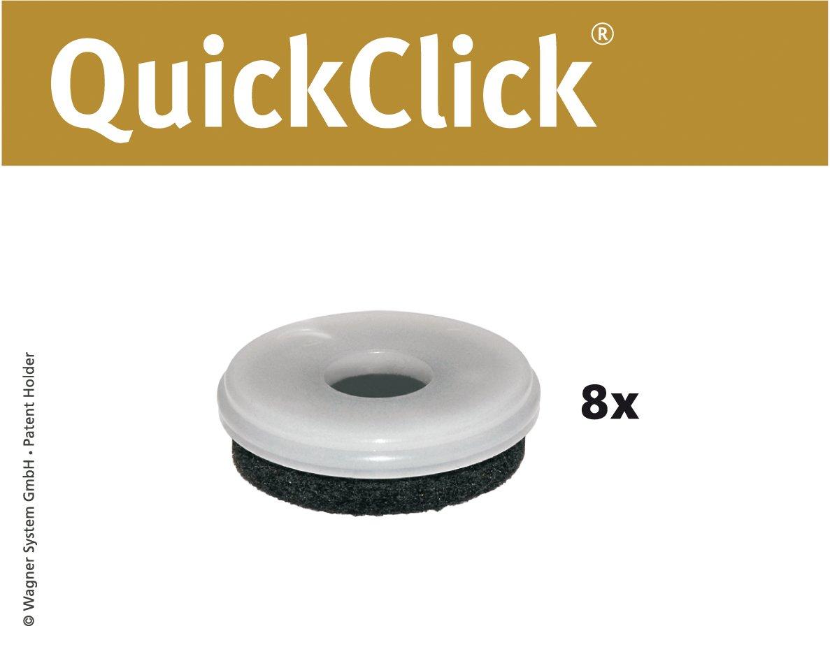 'Wagner QuickClick® suelo para sillas (Ultrasoft, mecanismo QuickClick, 8unidades