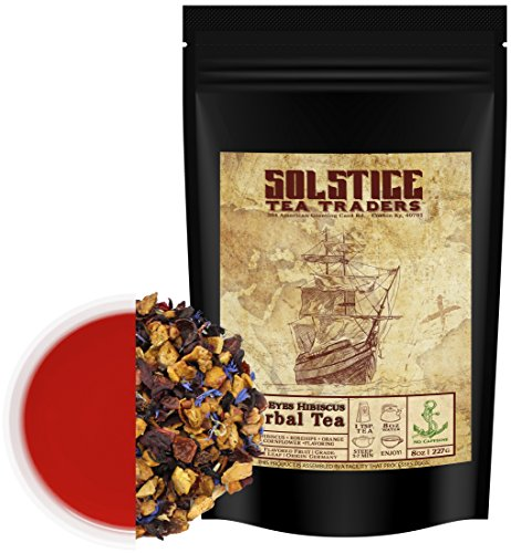 Hibiscus Blue Eyes Herbal Tea (8oz Bulk Bag); Caffeine-Free Tisane w/Dried Flowers & ()