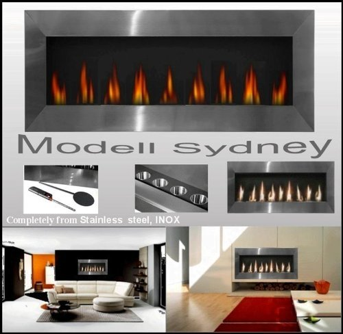 Fabricante de chimeneas Mierzwa (df-shopping, Alemania) XXL Gel Modelo Sydney fabricado en acero inoxidable para bioetanol o...