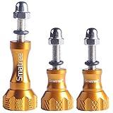 Smatree Aluminum Thumbscrew Thumb Knob for Gopro Session - Hero 6 5 4 3 3+ 2 1 ( 3PCS - 1 Long + 2 Short) - Golden