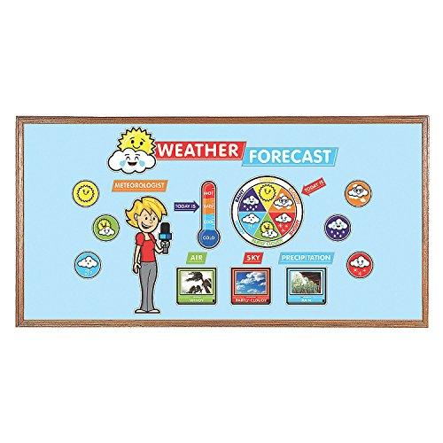 (Fun Express - Mini Weather Bulletin Board Set - Educational - Classroom Decorations - Bulletin Board Decor - 1 Piece)