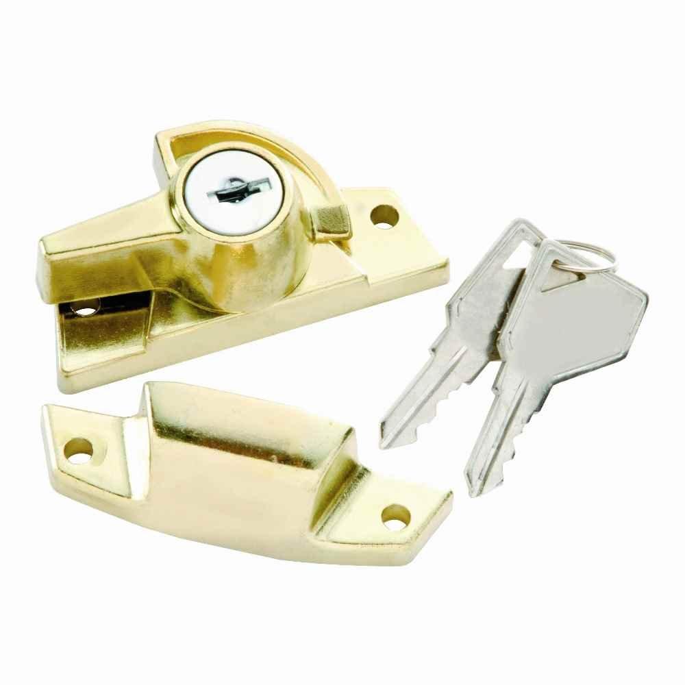 Keyed Sash Lock in Polished Brass (Set of 10) (Keyed Alike)