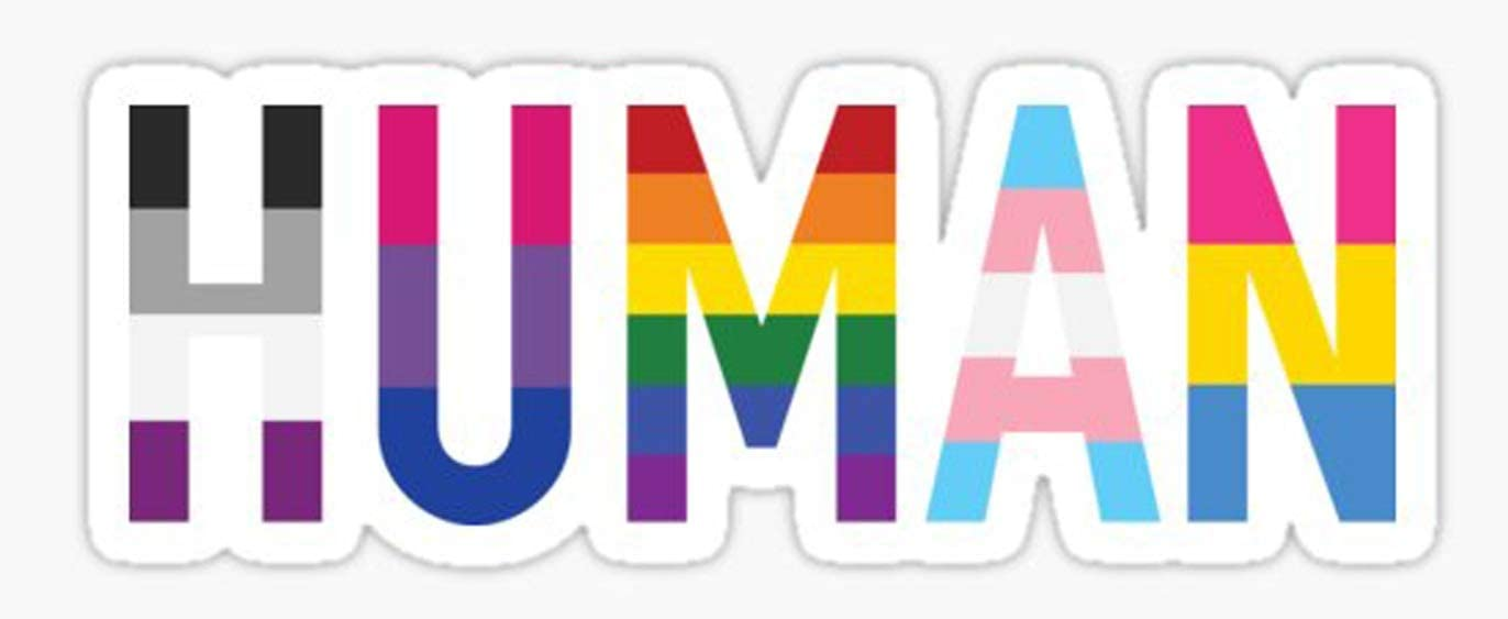 """HTradings Human, Gay Pride Sticker, Decal 