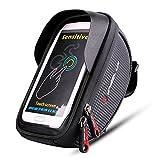 Bike Frame Bag, EletecPro Cellphone Bag Bike Waterproof Front Top Tube Bicycle Touchscreen Saddle Bag Rack Cycling Handlebar Bag For Smartphones