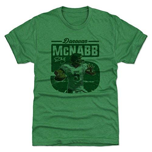 500 LEVEL Donovan McNabb Triblend Shirt Large Heather Kelly Green - Vintage Philadelphia Football Men's Apparel - Donovan McNabb Big 5 G