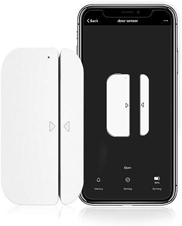 Wi-Fi Sensor De Puerta Alertas Inteligente WiFi Puerta Alarma Magn/ética Tel/éfono M/óvil Control Remoto Sensor De Puerta Inal/ámbrico