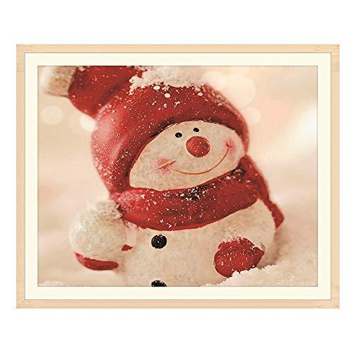 Loriver Christmas DIY Diamond Painting, Snowman Cross Embroidery Stitch Decor Home Art