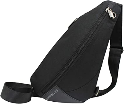 Unisex Messenger Bag Hello Hi Letter Shoulder Chest Cross Body Backpack Bag