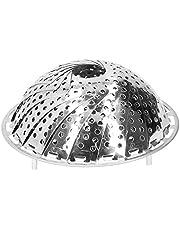 Ångkokare rostfritt stål instant kastrulltillbehör, lämplig för mat och grönsaker, högkvalitativ utbyggbar ångkokare, lämplig för olika krukstorlekar (15 cm till 25 cm)