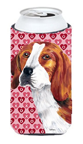 Beagle Hearts Love and Valentine's Day Portrait  Tall Boy (Beagle Portrait)