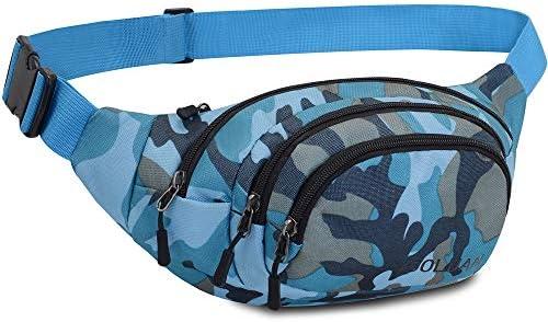 Resistente al Agua riñonera Bolsa de Cintura 4 Bolsillos con Cremallera Bolsa riñonera de Viaje Senderismo al Aire Libre Deporte Vacaciones Dinero