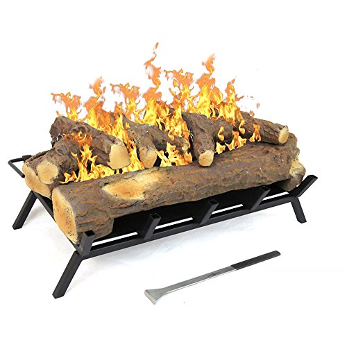 Regal Flame 24 Inch Convert to Ethanol Fireplace Log Set with Burner Insert from Gel or Gas Logs (Best Way To Light A Log Burner)
