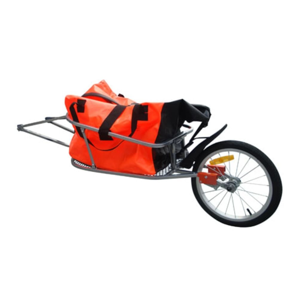 vidaXL Outdoor Bike Bicycle Trailer Cargo Transport Cart One-wheel w/Luggage Bag