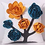 Is There a Bigger Bed Than a King Size Soft Time Handmade Decorative Emboidery Throw Pillow Case Cushion Comfortable Pillow Cover Soft Decorative Pillowcase for Shams Dorm Room Home Office Bed Chair Couch Sofa Comfy 18
