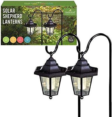 SHEPHERD LED SOLAR POWERED LANTERN SOLAR LIGHT HANGING GARDEN OUTDOOR pg