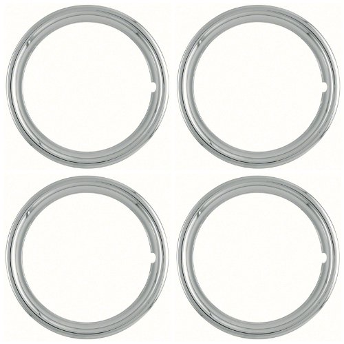 (Set of 4 Polished Stainless Steel 14