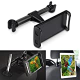 Car Headrest Tablet Mount Holder, Universal Headrest Backseat Tablet Cell Phone Car Mount Stand Holder for iPhone iPad Air Pro Mini Kindle Samsung Galaxy Tab Nintendo Switch With Screen 4.5'' to 10''