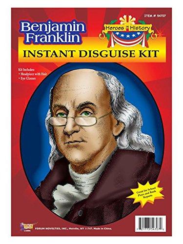 Historical Ben Franklin Wig and Glasses