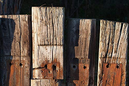 Home Comforts Laminated Poster Wood Fence Limit Faces Railway Sleepers Vivid Imagery Poster Print 24 x 36