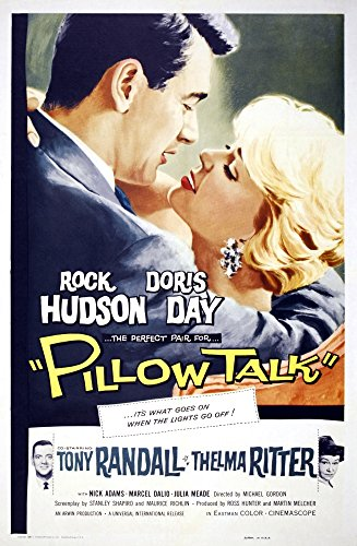 Posterazzi Pillow Talk Top Rock Hudson Doris Day Bottom from Left: Tony Randall Thelma Ritter 1959. Movie Masterprint Poster Print, (11 x 17)