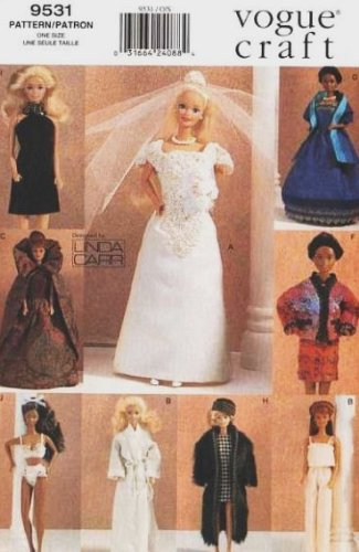 Vogue 9531 Fashion Barbie Doll Wardrobe Sewing Pattern and other 11.5