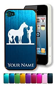 Engraved Aluminum iPhone 6 plus 5.5 Case/Cover - COWGIRL AND HORSE / ANIMAL - Personalized for FREE (Click the CONTACT SELLER button after purchase and send a message with your case color and engraving request)