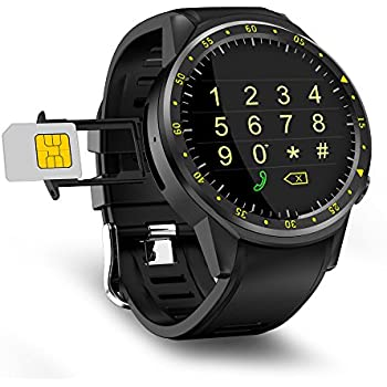 Beseneur F1 Sport Smart Watch with Camera GPS Bluetooth Smartwatch SIM Card Wristwatch for Android IOS Phone Wearable Devices, Black (Black)