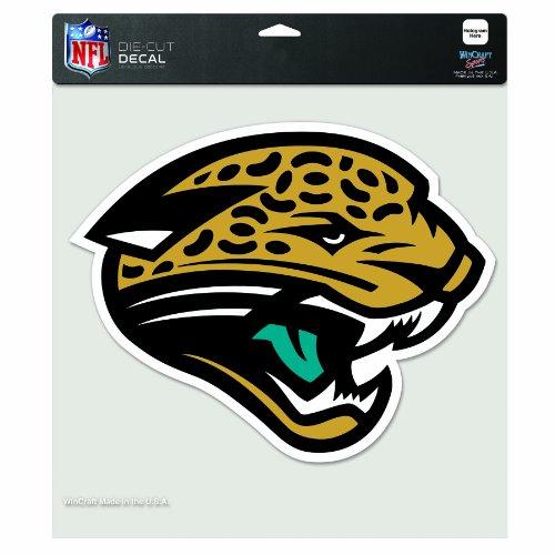 NFL Jacksonville Jaguars 8-by-8 Inch Diecut Colored ()