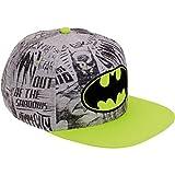 Batman Logo Boys NEON Flat Bill Snap Back Baseball Hat, Youth